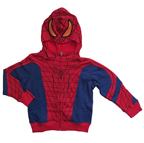 Mad Engine Marvel Spider-Man Little Boys Toddler Zip Up Character Hoodie