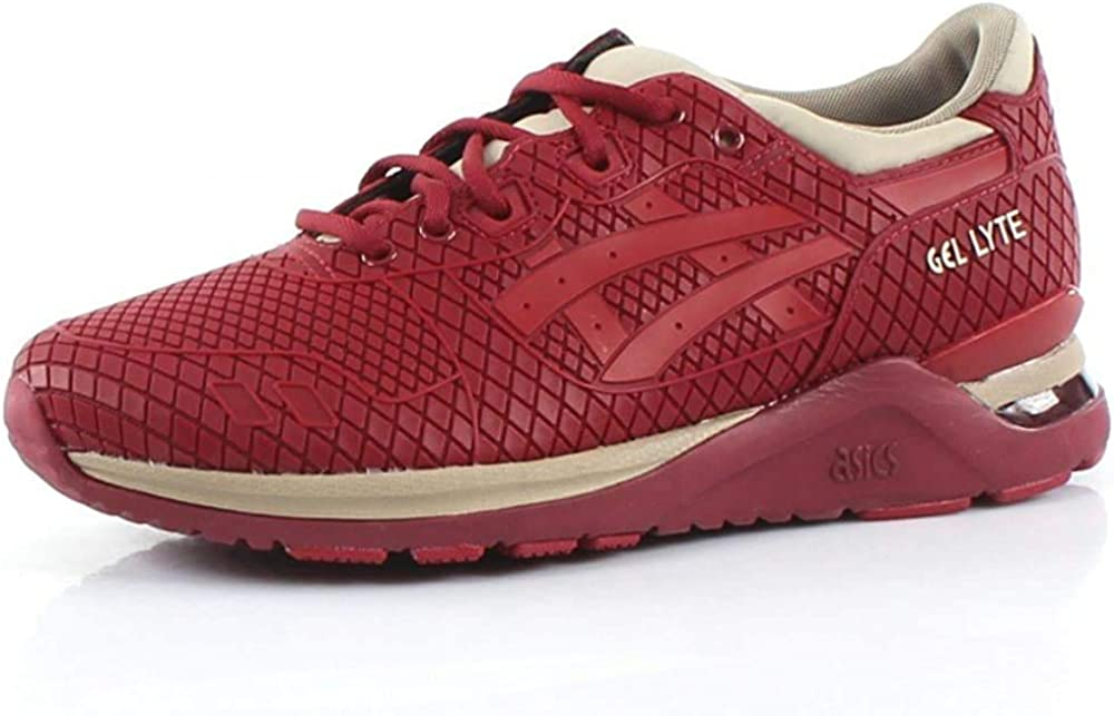 ASICS Gel-Lyte Evo, Chaussures Mixte Adulte Burgundy Tango Red