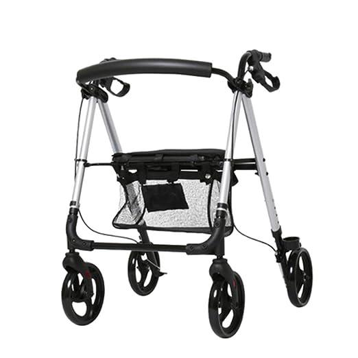 HENGYE Rodillo de Aluminio Ligero, Andador rodante Ajustable con ...