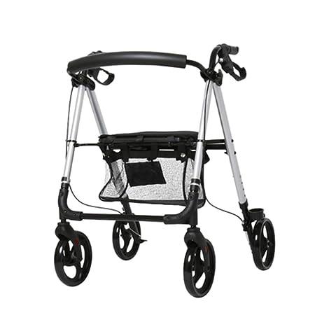 HENGYE Rodillo de Aluminio Ligero, Andador rodante Ajustable ...