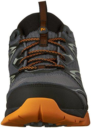 Merrell Men's Capra Bolt Waterproof Hiking Shoe, Grey/Orange, 9.5 M US by Merrell (Image #4)