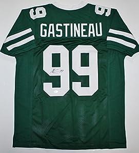 Mark Gastineau Autographed Green Pro Style Jersey- JSA Witness Authenticated