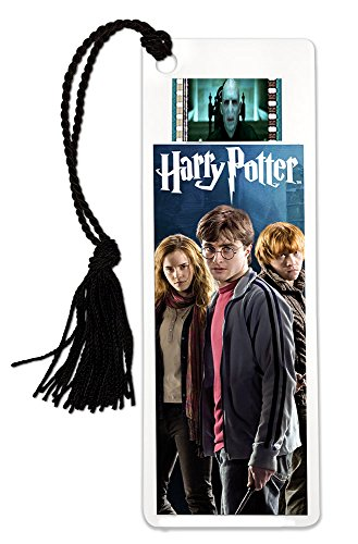 Harry Potter (Harry Ron and Hermione) FilmCells Bookmark with Tassel and 35mm movie film cell