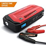 Jump Starter by Spacekey - 800A Peak 18000mAh Portable Car Jump Starter (Up to 6.5L Gas or 5.5L Diesel), Auto Battery Booster, Phone Charger, Power Pack with Built-in Dual Output, and LED Flashlight