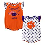 Gen 2 NCAA Clemson Tigers Newborn & Infant Heart Fan 2pc Bodysuit Set, Multi, 6-9 Months