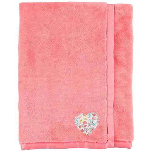 Carter's Baby Girl Plush Heart Blanket Pink (Carters Bunny Blanket)