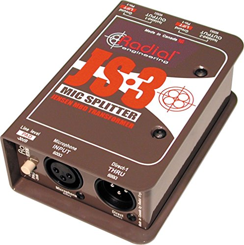 Radial JS3 Passive Microphone Splitter by Radial