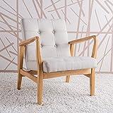 Cheap Conrad Medium Beige Fabric Mid Century Modern Club Chair