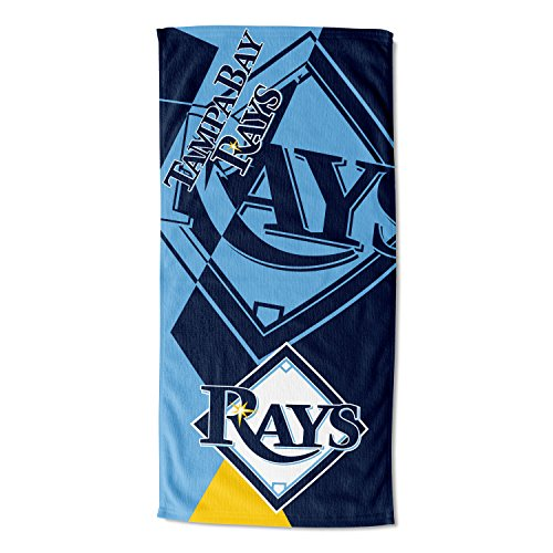 The Northwest Company Officially Licensed MLB Tampa Bay Rays Puzzle Beach Towel, 34
