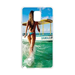 Samsung Galaxy Note 4 Cell Phone Case White hd70 brazil girl bikini sea beach SUX_953333