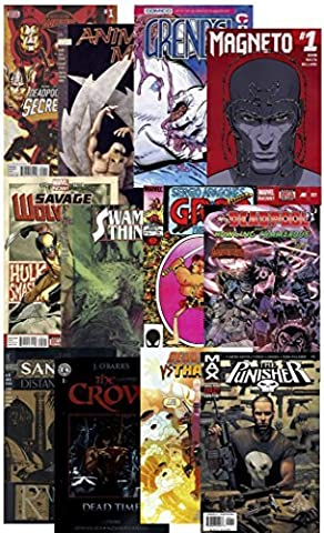 25 Parental Guidance COMIC BOOKS Grab Bag Collection from DC, Marvel & more. MATURE SITUATIONS, VIOLENCE, BLOOD & GORE 17+ ~ Guaranteed at Least 1 DEADPOOL comic in every pack - by KerSplat! (Mature)