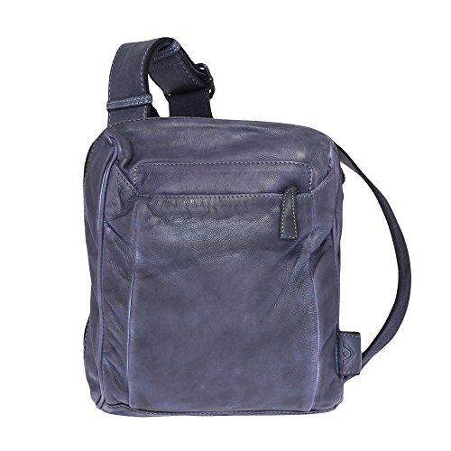 VOi Leather Design, Borsa a secchiello donna Blau
