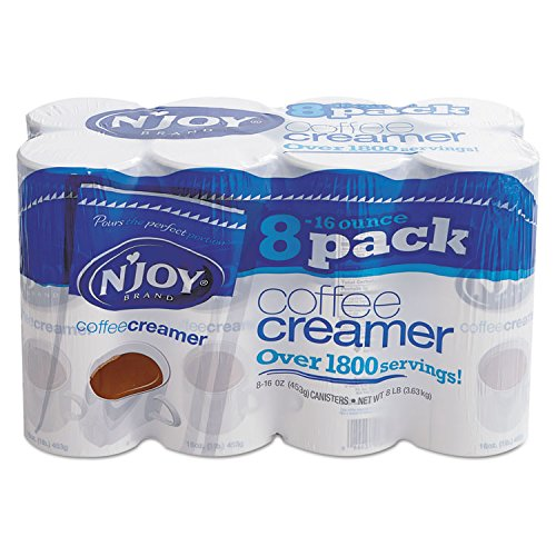 N'Joy 827783 Non-Dairy Coffee Creamer, 16 oz Canister, 8/Carton - Canister Creamer