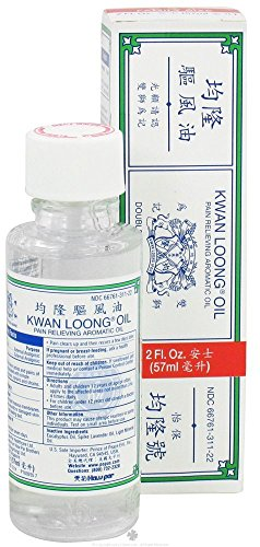 1 X Kwan Loong Migraine Aches and Pains Relief Aromatic Oil 2 Fl Oz.
