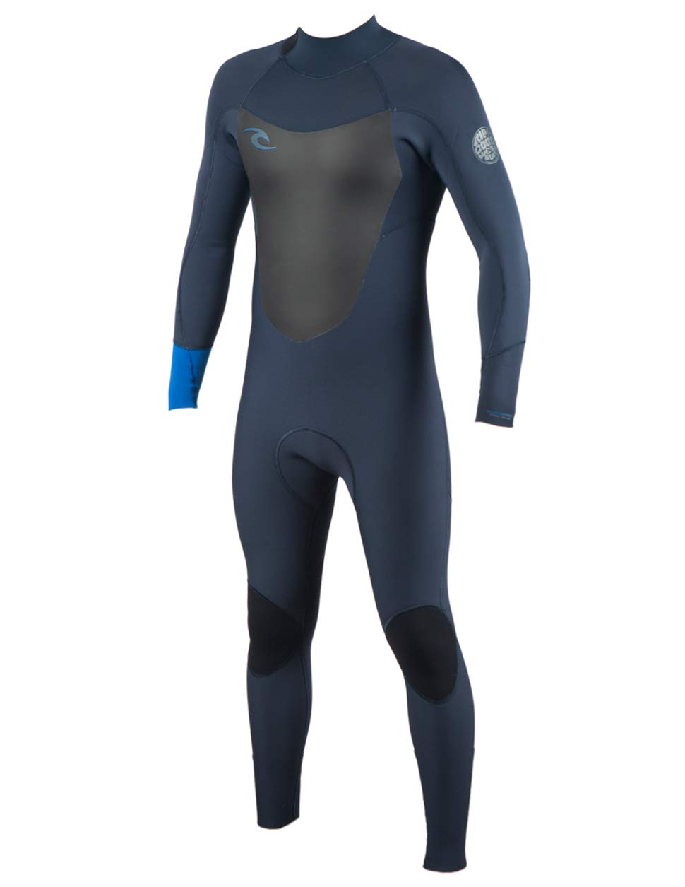 Rip Curl Dawn Patrol Back Zip 4/3 Wetsuit, Blue, Large by Rip Curl
