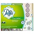 Puffs Plus Lotion Facial Tissues, 24 Family Boxes, 124 Tissues per Box