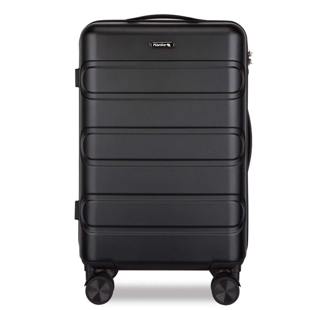 FRF トロリーケース- 人および女性のための大容量の無地のスーツケース、普遍的な車輪ロック箱のトロリー箱20/24インチ (色 : ブラック, サイズ さいず : 20in) 20in ブラック B07QKR8MGK