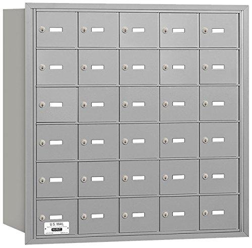 Salsbury Industries 3630ARU 4B Plus Horizontal Mailbox, 30 A Doors, Rear Loading, USPS Access, Aluminum