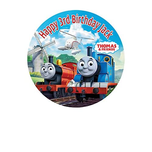 Thomas The Tank Engine Personalized Cake Topper Icing Sugar Paper 75 M5