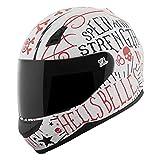 Speed & Strength SS700 Hells Belles Full Face Helmet White/Red LG
