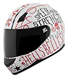 Speed and Strength SS700 Hell's Belles  A.T.P.A. Shell Helmet Matte White/Red, X-Large
