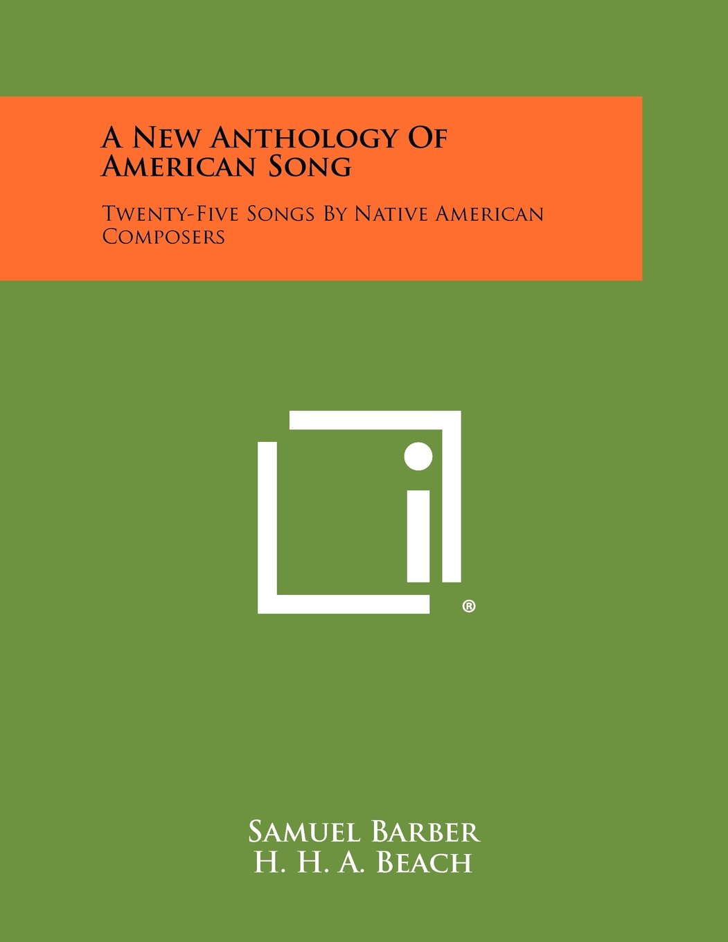 A New Anthology Of American Song: Twenty-Five Songs By Native American Composers pdf epub