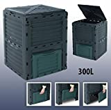 GARDEN COMPOSTER Kompo by 4smile.shop – Made in Europe ǀ 300 l composter bin for organic household remains and garden waste ǀ THERMO COMPOSTER without...