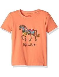 T Ss Toddler Tee Flower Swirlhors Frscrl T-Shirt,
