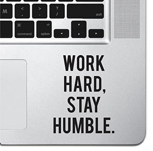 Work Hard Motivational Macbook Sticker Decal MacBook Pro Decal Air 13 15 17 Keyboard Mousepad Trackpad Laptop Inspirational Sticker