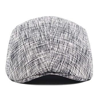 Autunno e Inverno Cotone Tessuto in Lino Cappello Piatto Baschi Scozzesi Coppola Cappello Piatto Berretto da Uomo Aikesi