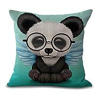 """FAZHISHUN Cotton Linen Home Decorative Cute Fox Throw Pillow Covers Cushion Cover for Sofa Couch,18"""" x 18"""""""