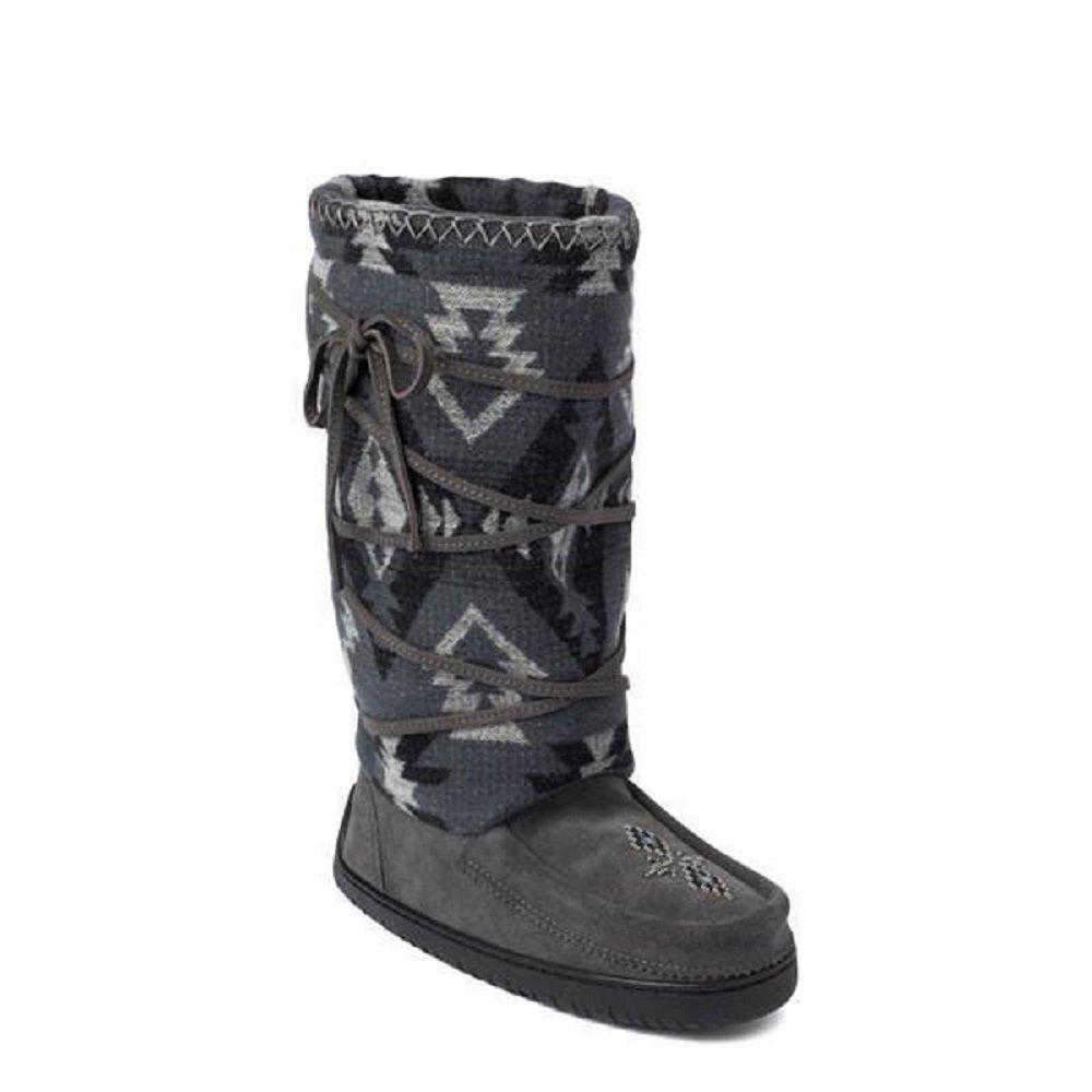 Manitobah Mukluks Women's Wool Lace-Up Mukluk Winter Boot (Charcoal)