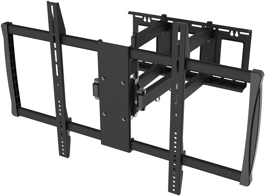 Monoprice Stable Series Full-Motion Articulating TV Wall Mount Bracket – TVs 60in to 100in Max Weight 178lbs Extends from 2.8in to 24.6in VESA Up to 900×600 Rotating Concrete Brick No Logo