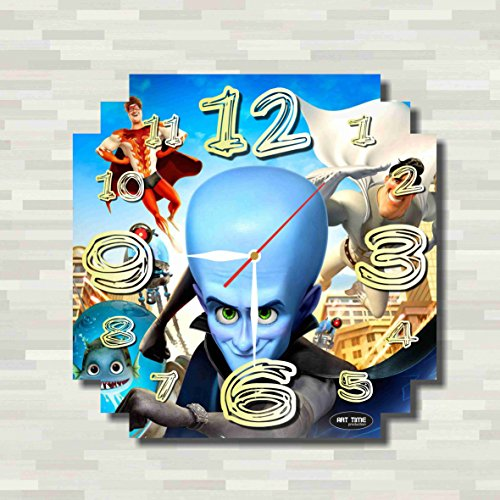 Megamind 11.8'' Handmade unique Wall Clock - Get unique décor for home or office – Best gift ideas for kids, friends, parents