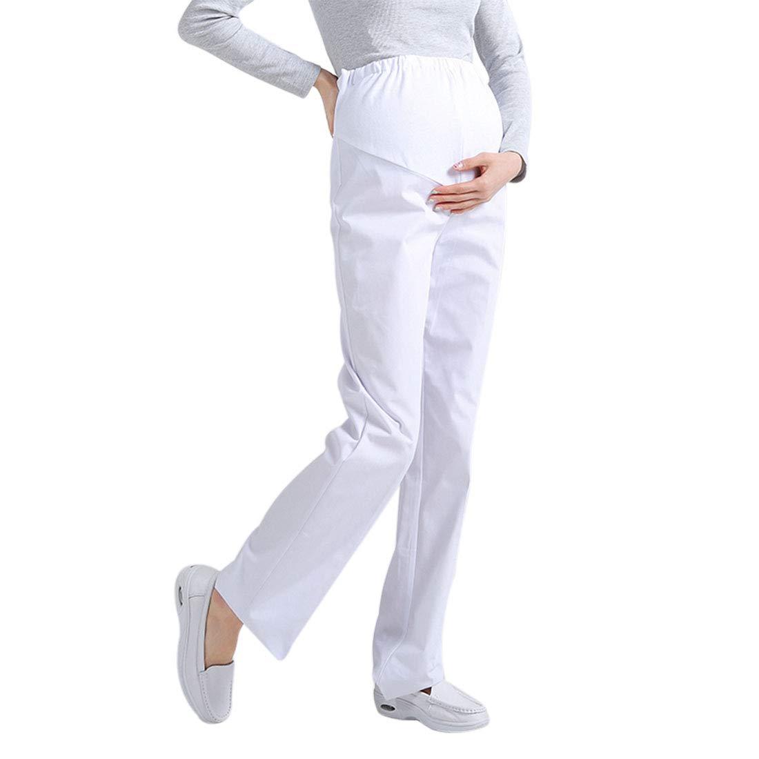 3e58de21a Xianheng Pantaló n Mé dico Laboratorio Pantaló nes Uniforme de Trabajo  Enfermera Sanitaria de Moda para