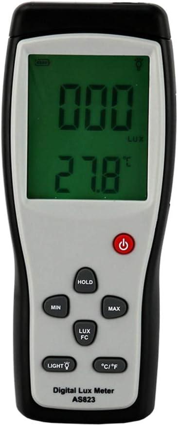 QWERTOUR Digital Luxmeter Digital Lux Meter Photometer Illuminometer Spectrometer Spectrophotometer High Precision Light Meter 200,000lux