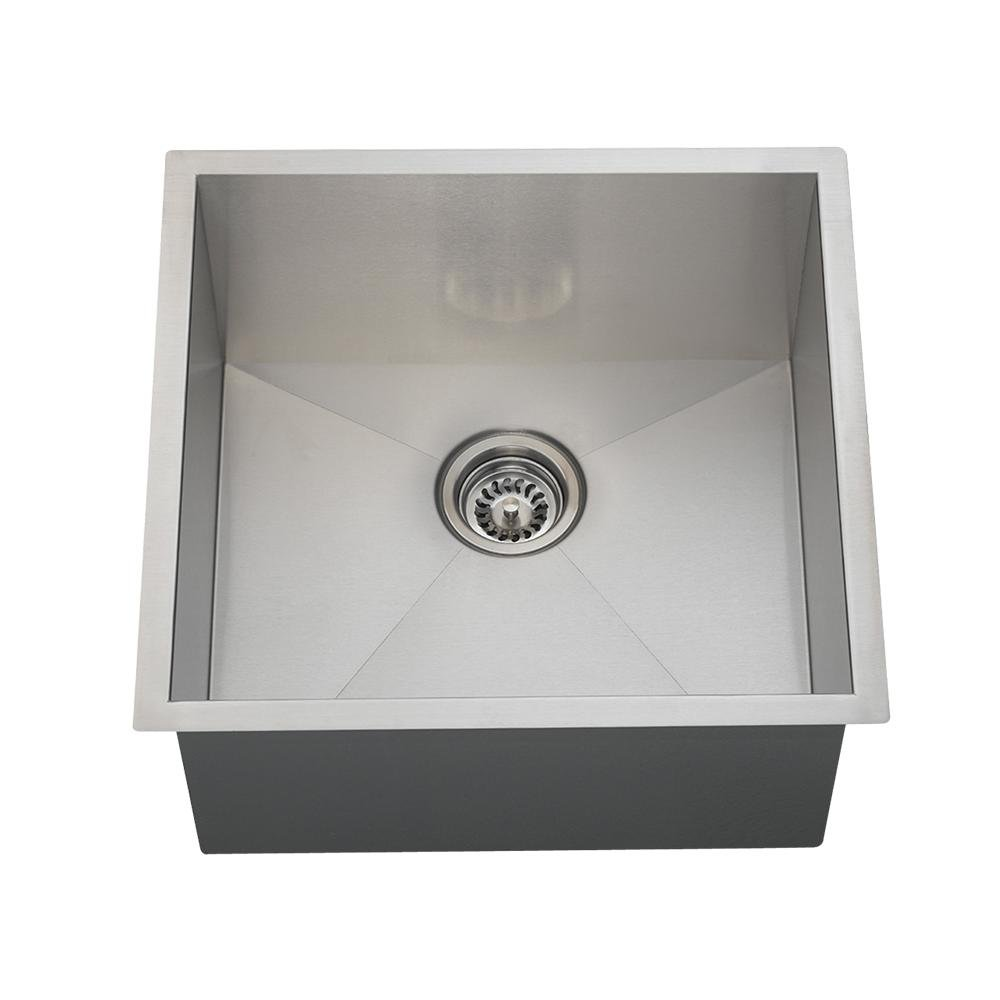 Lovely 2321S 16 Gauge Undermount Single Bowl 90° Rectangular Stainless Steel  Utility Sink   Vessel Sinks   Amazon.com