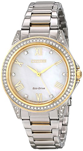 Drive from Citizen Eco-Drive Women's Watch with Swarovski Crystal Accents, - Guess Watch Crystal Accent