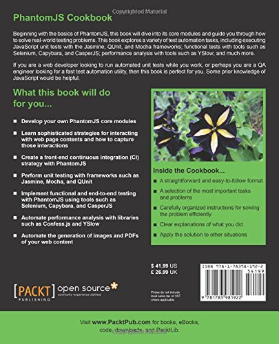 PhantomJS Cookbook: Rob Friesel: 9781783981922: Amazon com: Books