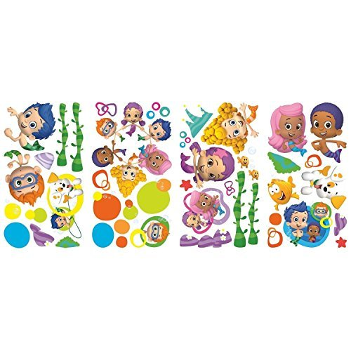 Bubble Guppies Peel and Stick 44 Big Wall Decals Deema GIL Oona Room Decor Stickers Mermaids -