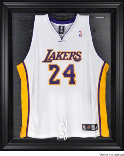 Amazon.com : Sports Memorabilia NBA Logo Black Framed Jersey Display ...