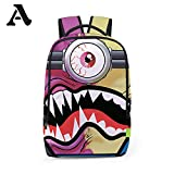 Printing Student Backpack Bags - Schoolbag for Unisex College Travel Backpack -A