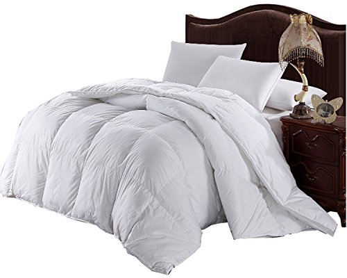Royal Hotel Collection Oversized Full/Queen Baffle Box White Down Alternative Comforter 92\