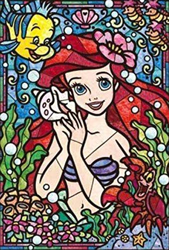 Diamond Painting Kits for Adults - Ariel Stained Glass 35x50 (14x20 Inch) - 5D Round Full Drill Art Perfect for Relaxation and Home Decor