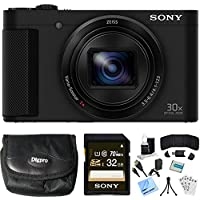 Sony Cyber-shot HX80 Compact Digital Camera 32GB Memory Card Bundle includes Camera, Card, Reader, Wallet, Case, HDMI Cable, Mini Tripod, Screen Protectors, Cleaning Kit, Beach Camera Cloth and More! At A Glance Review Image