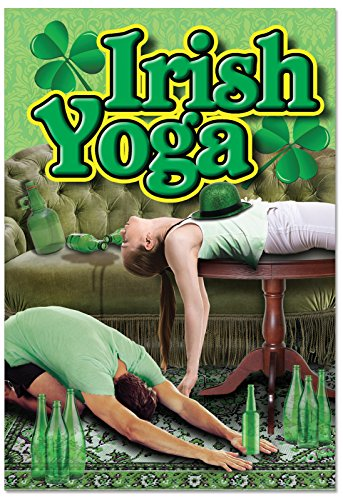 St patricks day greeting cards st patricks day supplies c1634spg irish yoga funny st patricks day greeting m4hsunfo