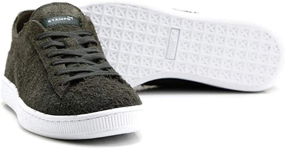 PUMA Womens States x Stampd Leather Low Top Lace Up Fashion Sneakers Forestnight Forestnight White OiAjzK