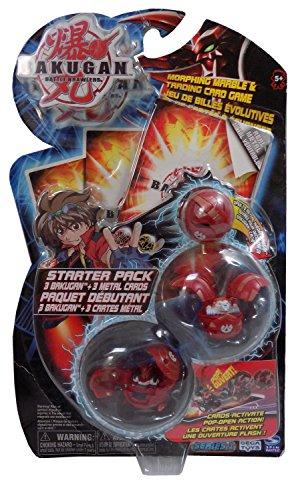 Bakugan Battle Brawlers Starter Pack Series 1-Red Mystery Marble, Griffon 400 Gorem