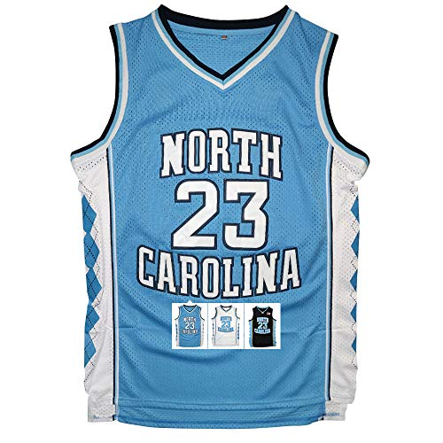 Antsport #23 North Carolina Mens Basketball Jersey Retro Jersey S-XXXL (Blue, S)