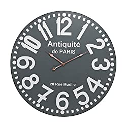 AR Lighting Antique Wall Clock in Grey